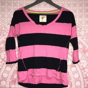 Pink and black Abercrombie & Fitch shirt